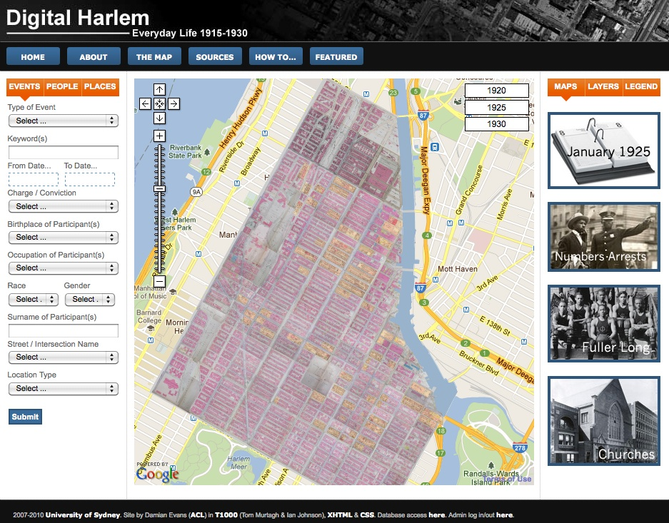 Digital Harlem - Homepage