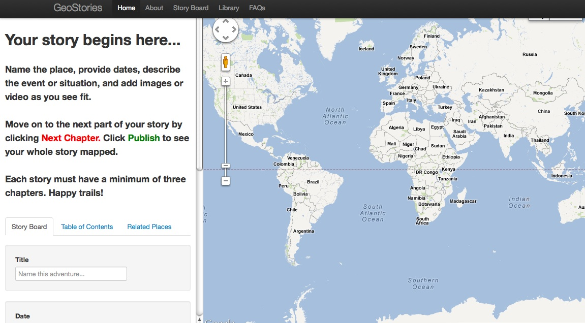 "GeoStories-- ""Story Board"" Interface"