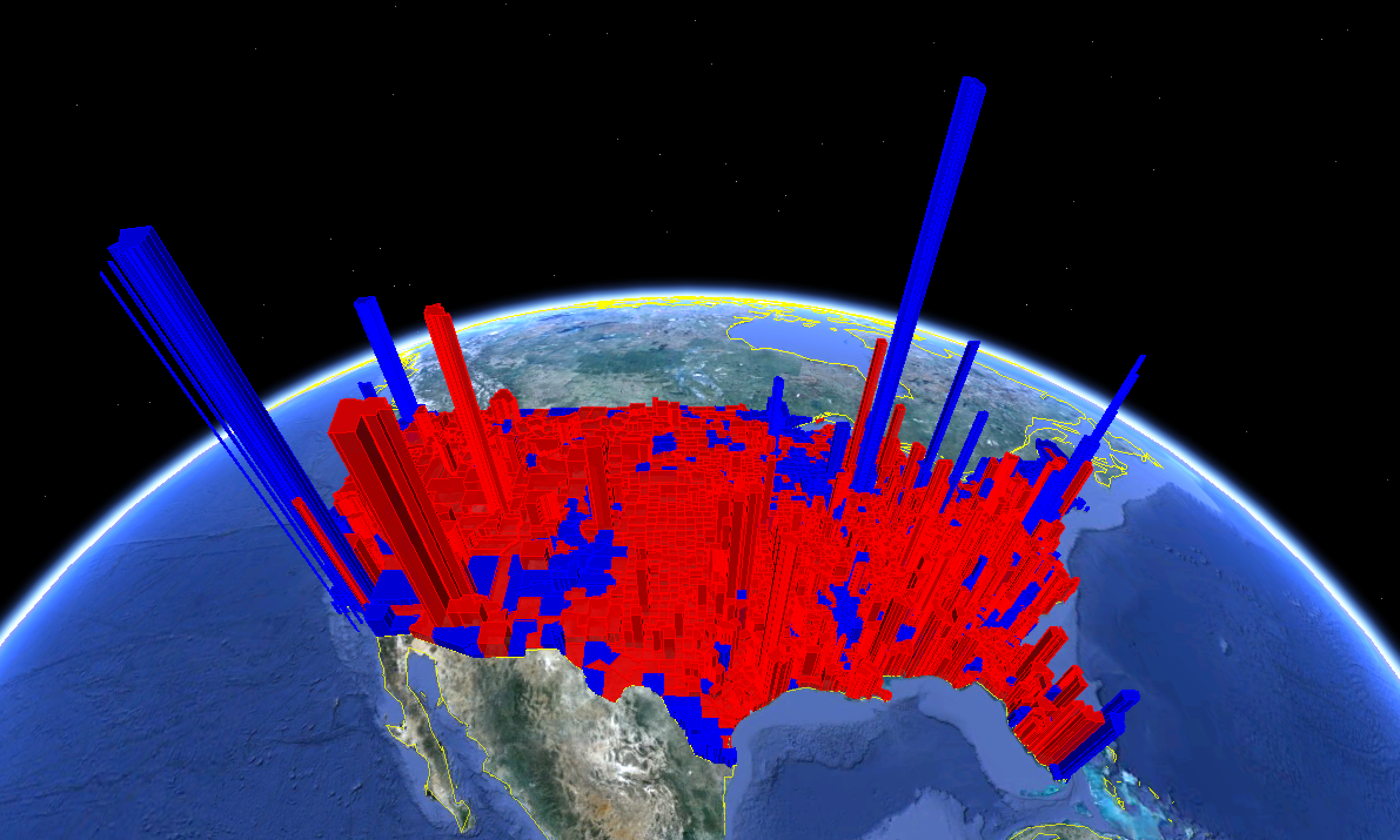 Seeing The Presidential Election Results In D The Urban Nomad - Map of population density us election